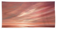 Strawberry Sky Sunset Beach Towel