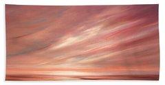 Strawberry Sky Sunset Beach Sheet