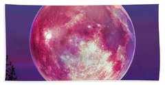 Strawberry Solstice Moon Beach Towel by Robin Moline