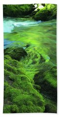 Stream Above Whitehorse Falls Beach Towel