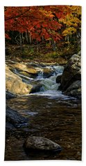 Beach Towel featuring the photograph Stream In Autumn No.17 by Mark Myhaver