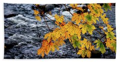 Stream In Fall Beach Towel