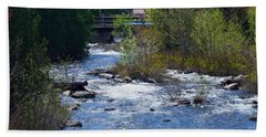 Stream In Spring Beach Towel by David Porteus