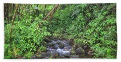 Stream In The Rainforest Beach Towel