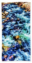 Beach Sheet featuring the photograph Streaming Rapids by Nancy Marie Ricketts