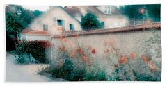 Street In Giverny, France Beach Towel