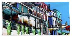 Street In New Orleans Beach Towel