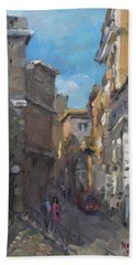 Street In Rome Beach Towel