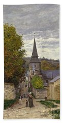 Street In Sainte Adresse Beach Towel