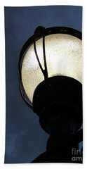 Street Lamp At Night Beach Sheet