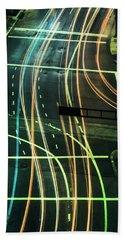 Street Lights Beach Sheet by Scott Meyer