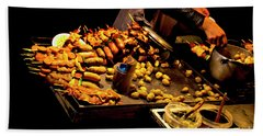 Beach Towel featuring the photograph Street Meat by Al Bourassa