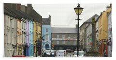 Beach Towel featuring the photograph Streets Of Cahir by Marie Leslie