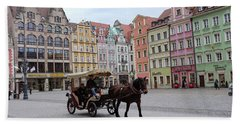 Beach Towel featuring the photograph Wroclaw Rynek by Dubi Roman