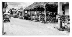 Street Scene On Caye Caulker Beach Sheet