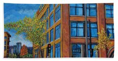 Street Study Montreal Beach Towel by Reb Frost