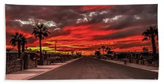 Street Sunset Beach Towel by Robert Bales