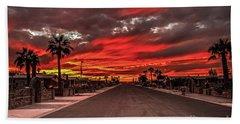 Beach Sheet featuring the photograph Street Sunset by Robert Bales
