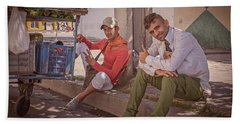 Beach Sheet featuring the photograph Street Vendors In Cienfuegos Cuba by Joan Carroll