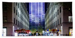 Beach Towel featuring the photograph Rockefeller Center by M G Whittingham