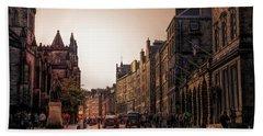 Streets Of Edinburgh Scotland  Beach Towel