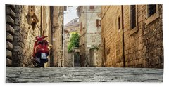 Streets Of Italy Beach Towel