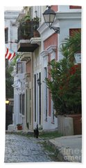 Streets Of Old San Juan Beach Towel