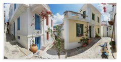 Streets Of Skopelos Beach Towel