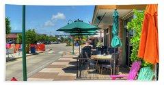 Streetside Dining Beach Towel