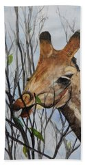 Beach Towel featuring the painting Stretch by Betty-Anne McDonald