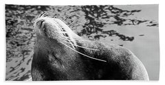 Stretch, Black And White Beach Towel