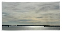 Striated Sky Over Casco Bay Beach Sheet