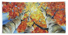 Striking Fall Beach Towel