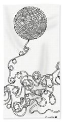 String Energy 2 Beach Towel by Quwatha Valentine
