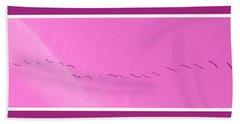 String Of Birds In Purple Beach Sheet