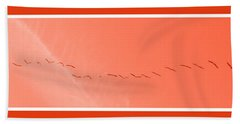 String  Of Brids In Red Beach Towel