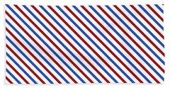 Stripes Diagonal Carmine Red Cobalt Blue Simple Modern Beach Towel