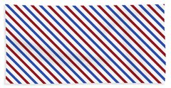 Stripes Diagonal Carmine Red Cobalt Blue Simple Modern Beach Towel