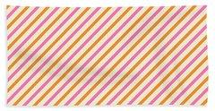 Stripes Diagonal Orange Pink Peach Simple Modern Beach Sheet