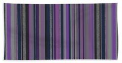 Stripes In Grayed Lavender Beach Sheet