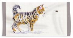 Stripey Creatures Beach Sheet