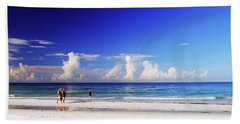Beach Towel featuring the photograph Strolling The Beach by Gary Wonning
