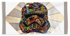 Strom Trooper Afrofuturist  Beach Towel
