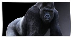 Strong Male Gorilla Beach Towel