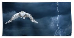 Stronger Than The Storm Beach Towel by Heather King