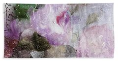 Studio313 Roses And Rain Beach Towel by Michele Carter