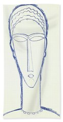 Study For A Head For A Sculpture Beach Towel