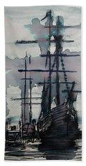 Study For Sailing Vessel Pandora Beach Towel