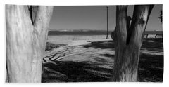 Study In Black And White Beach Towel