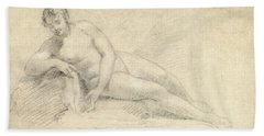 Study Of A Female Nude  Beach Towel